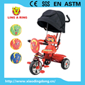 children tricycle with soft seat and silver wheel baby trike with push bar new baby tricycle