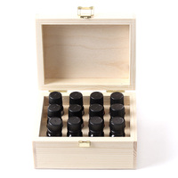 High end natural color essential oil packaging wooden storage box