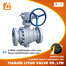 Factory supply Stainless Steel Ball Valve Flanged type Gear Operate
