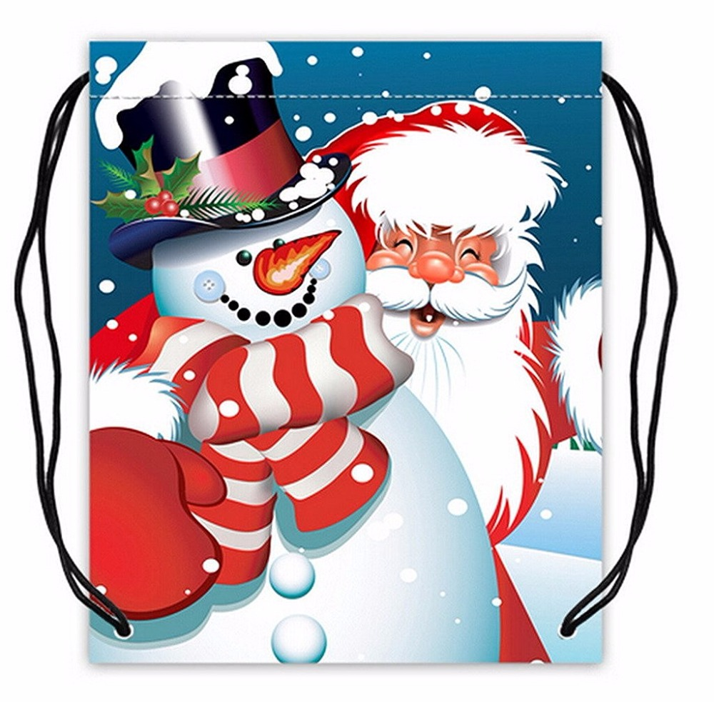 Trendy promotional recycled christmas hat foldable polyester bag