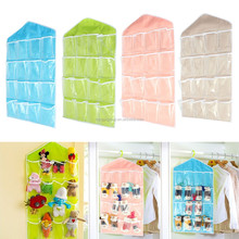 16 Pockets Socks Shoe Toy Underwear slippers Keys Sorting Door Wall Hanging Closet Storage Bag
