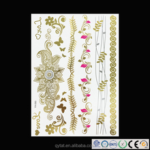 Shining Disposable Body Art Temporary Metallic Tattoo
