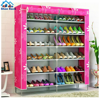 6 tiers shoe rack 20 pairs non-woven fabric shoe tower organizer
