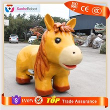 Amusing kids coin operated walking animal mechanical horse ride for sale