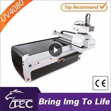 Cheap TJ4080UV cd label a4 flatbed uv printer