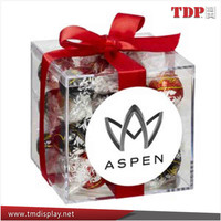 Clear Acrylic Chocolate Package Box Display Plaxiglass Candy Box Manufacturer