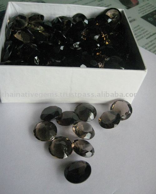 Large & cheap smoky quartz lot over 1,200 carats in stock! Stones are calibrated 15x15mm round