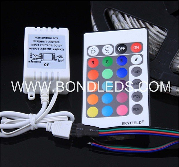 24 keys infrared rgb led controller decoder for encrypted channels