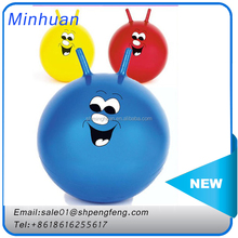 Wholesale ECO-friendly PVC hopper ball,Rody ball,jumping ball with handle for kids