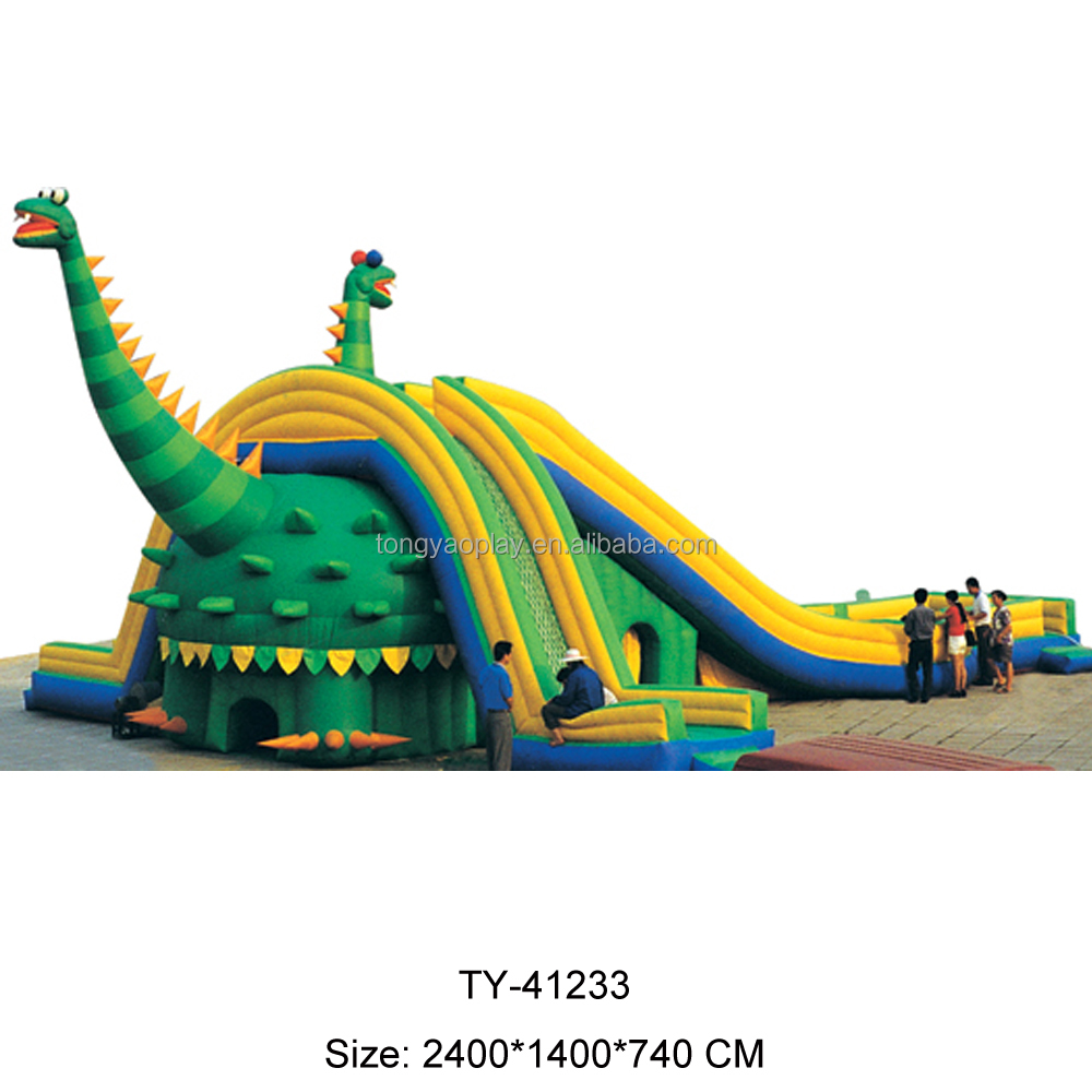 Water Park Giant Outdoor Dinosaur Inflatable Slide