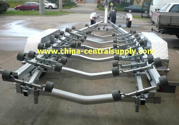 Factory made high quality heavy duty 7.6m Aluminum Boat trailer ACT0108