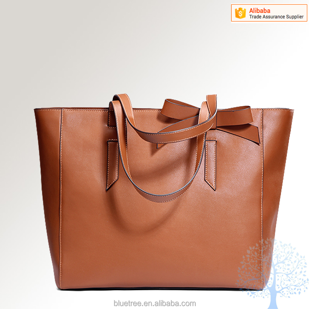 bags handbag in 2016,bowknot design in shoulder can take off, genuine leather material