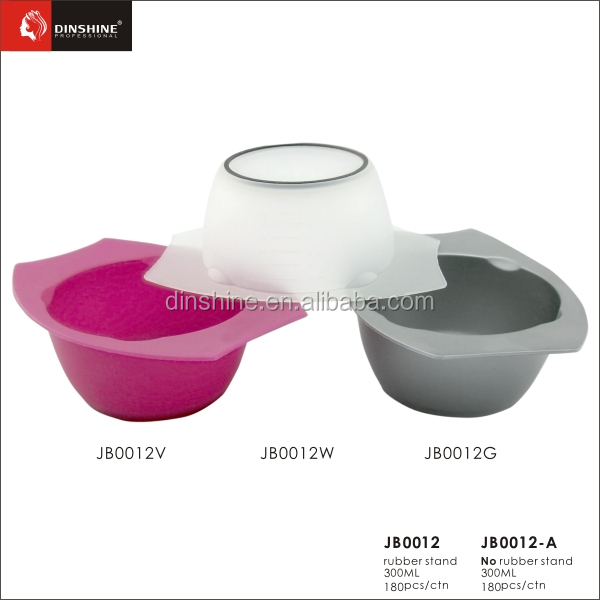 hot selling printed private label plastic hair dye bowl set