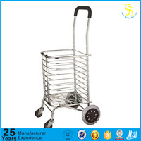 High quality low price small shopping trolley carts with wheels, foldable shopping cart, shopping cart for elderly(GZ factory)