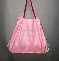 New design soft temper plastic bag with drawstring/super market carry plastic bag with drawstring
