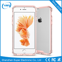 Alibaba Wholesale Cheap Price Transparent 2 in 1 TPU Bumper + Hard Plastic Hybrid Back Cover Acrylic Case For iPhone 7 7 Plus