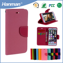 Factory price card holder leather mobile phone case for iphone 5s mobile case