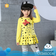 Kids t-shirt wholesale children's boutique clothing name brand girl t-shirt long sleeve printed baby t-shirt