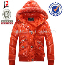 2014 women winter padded jacket with fur hoodies stocklot