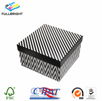 professional printing covered gift paper box packaging with remove lid