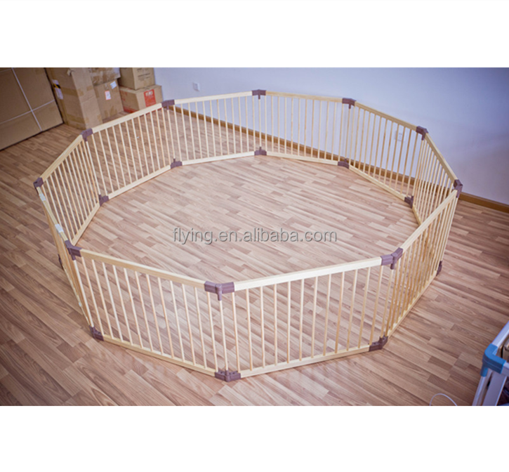 10 pcs Auto - lock foldable baby playpen,Round or Square luxury baby playpen ,wooden playpen