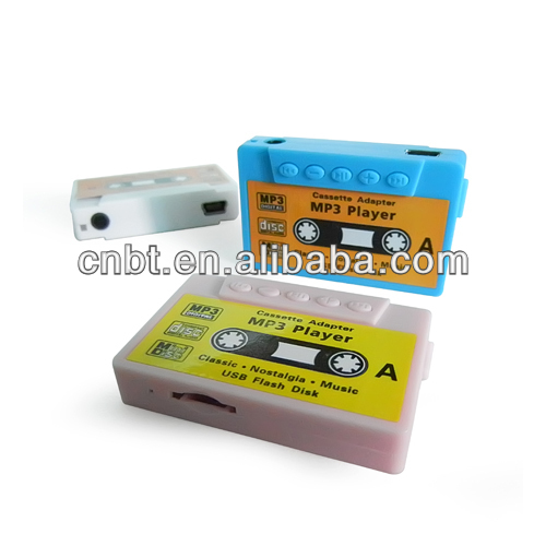 2013 new Cassette mp3 player, tape mp3 player with TF card slot