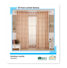 flower embroidery voile curtain