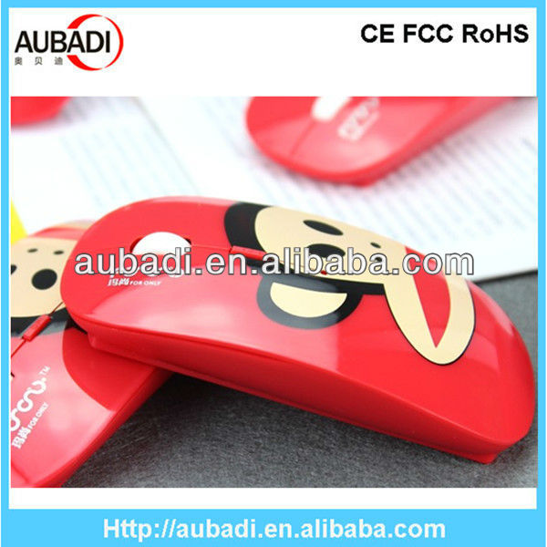 Best promotional cute surface 2.4ghz wireless ultra slim usb optical mouse