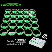 Manufacturer direct sell dmx 2.4gprogrammable remote control led xylobands bracelets