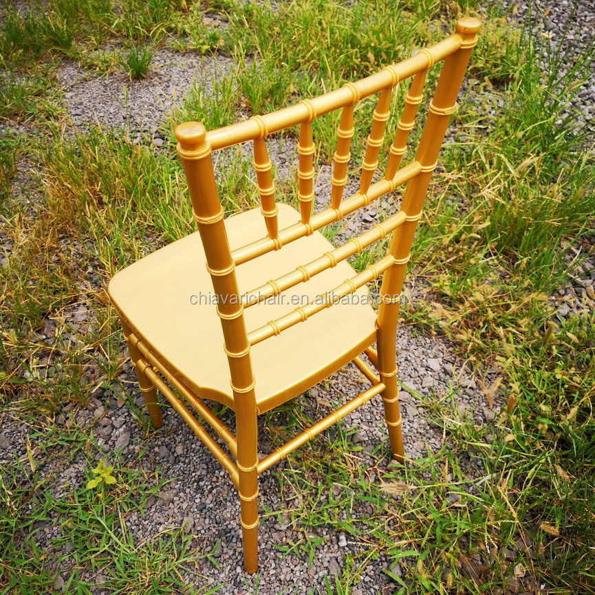 Cheap Gold Color PP Resin Chiavari Commercial Wedding Chairs