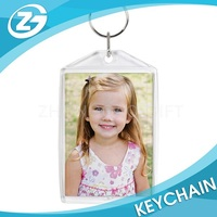 Hot Sale Promotional Clear Plastic AcrylicPhoto Key Ring