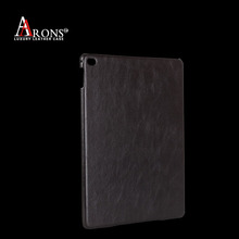Top grain genuine leather tablet protect case leather back cover for ipad air 2