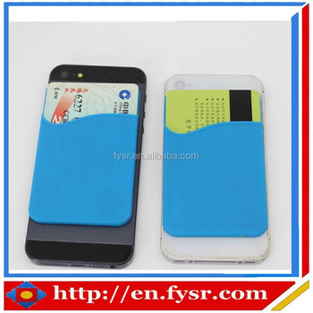 2015 factory price Silicone universal smart phone wallet
