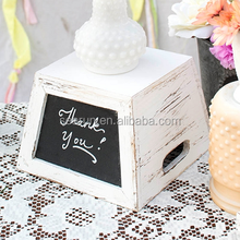 square wooden vase box chalkboard