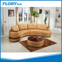 New design furniture round sofa with wood coffee table F1375