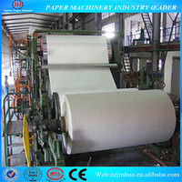 5T/D toilet paper making machinery , waste paper as raw material, complete tissue paper machine supplier