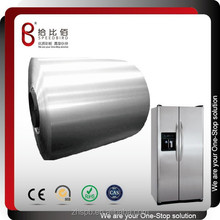 Fingerprint resistant color coated hairline finish stainless steel sheet for refrigerator panels