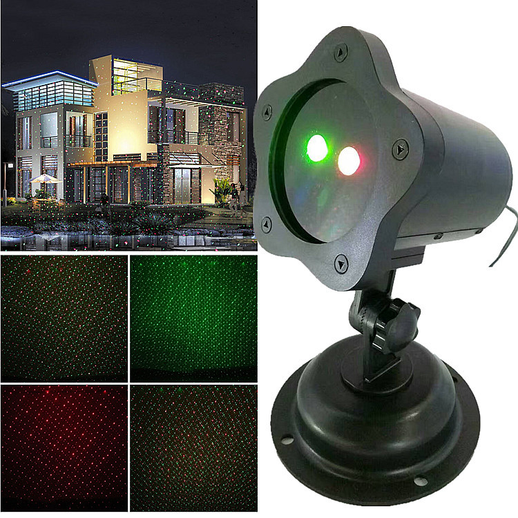 Newest waterproof ip44 led outdoor holidays rgb Maple projection light for christmas decorations