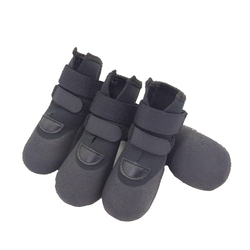 Hot selling black pet foot supply waterproof breathable soft adjustable outdoor water dog shoes