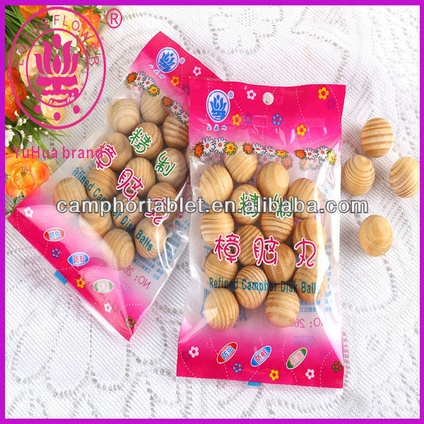 Japan and Korea Hot Sell New Refined Wood Camphor Balls/Scented Wooden Ball