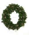 2017 designer indoor plastic christmas wreaths