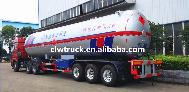 2017 CLW brand new 3 axle LPG storage semi trailer with customized tank capacity