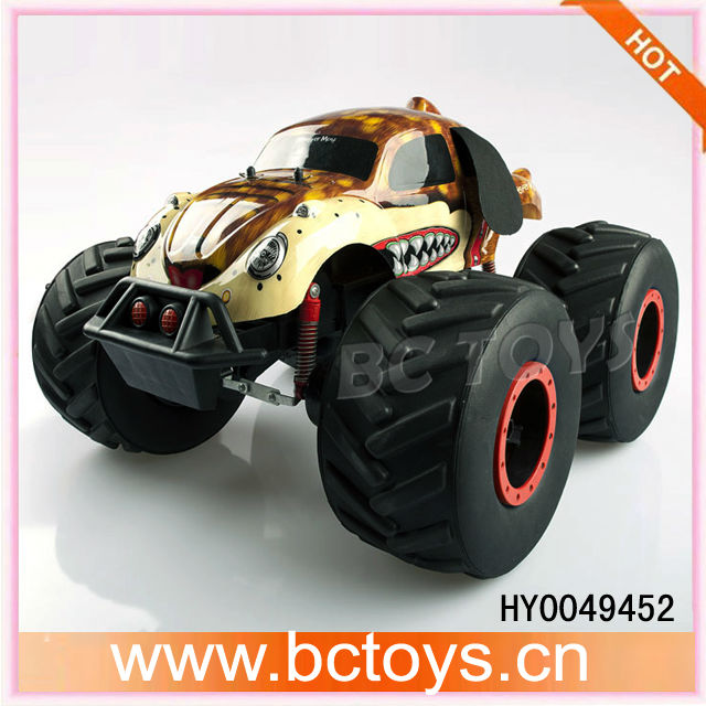 Electric power rc big wheel car 1/8 big foot remote control cars for adults
