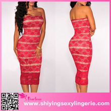 latest designs 2015 red tube sex women party dress or christmas