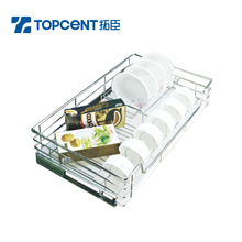 Stainless Steel Kitchen Cabinet Rolling Wire Drawer Basket