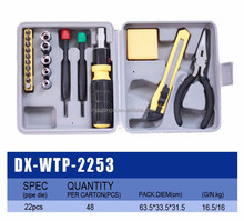 22pcs durable vehicle tool kit automotive motorcycle tool kit