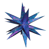 3D Mutil Print Hanging Paper Star For Christmas Decoration