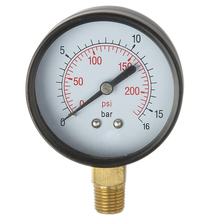 Bourdon tube type spring Pressure gauge for fire extinguisher