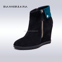 BASSIRIANA - womans platform boots warm fur lining 2017 new model shoes 35-40size