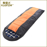 high quality cotton flannel sleeping bag for camping